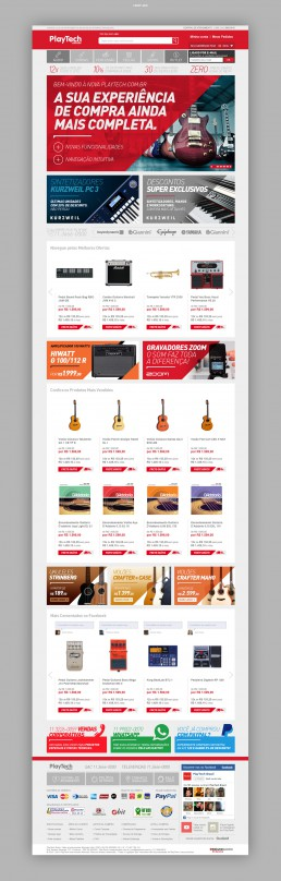 Layout site. Ecommerce Playtech.